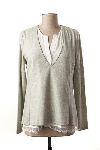 Pull tunique gris NINATI pour femme