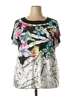 T-shirt manches courtes noir TELMAIL pour femme