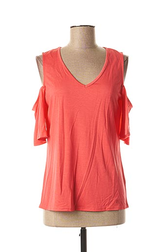 T-shirt manches courtes orange MARBLE pour femme