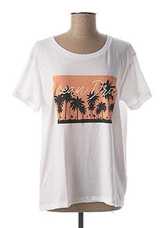 T-shirt manches courtes blanc BLEND SHE pour femme