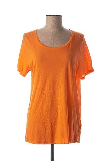 T-shirt manches courtes orange AMERICAN VINTAGE pour femme