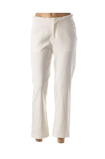 Pantalon 7/8 blanc DAPHNEA pour femme