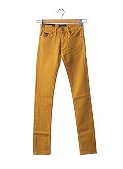 Jeans coupe slim jaune APRIL 77 pour femme