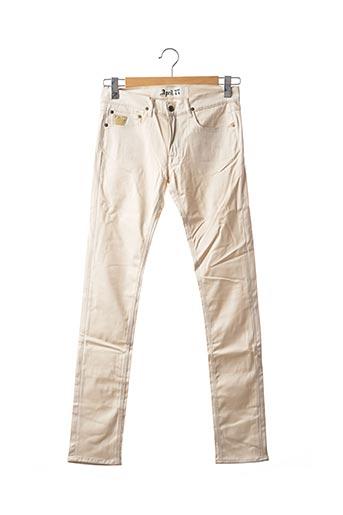 Pantalon casual beige APRIL 77 pour femme