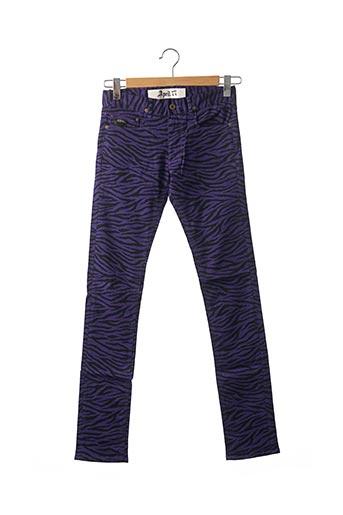 Pantalon casual violet APRIL 77 pour femme
