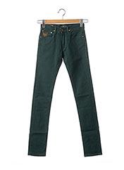 Jeans coupe slim vert APRIL 77 pour femme seconde vue