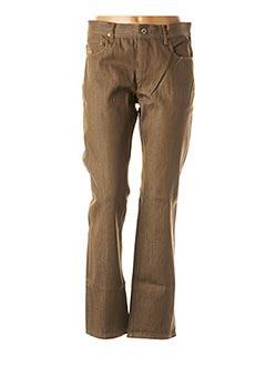 Jeans coupe droite marron APRIL 77 pour homme