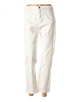 Pantalon 7/8 blanc MISS CAPTAIN pour femme