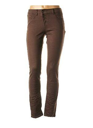Pantalon casual marron MISS CAPTAIN pour femme