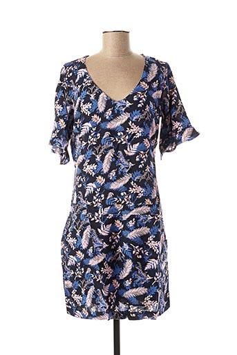 Robe mi-longue bleu MISS CAPTAIN pour femme