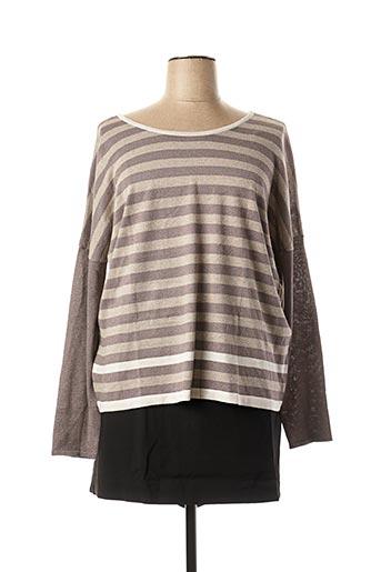 Top/jupe gris TREND pour femme