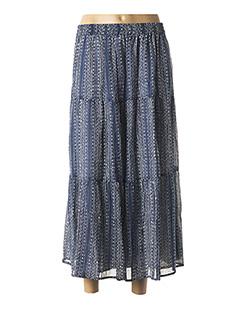 Jupe longue bleu 1 2 3 pour femme