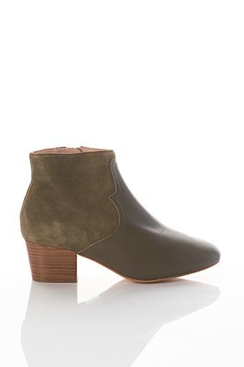 Bottines/Boots vert MAISON 123 pour femme