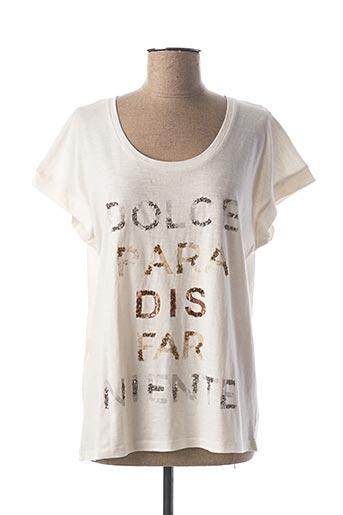 T-shirt manches courtes beige MAISON 123 pour femme