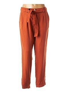 Pantalon 7/8 orange 1 2 3 pour femme