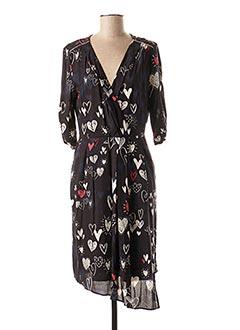 Robe mi-longue noir 1 2 3 pour femme