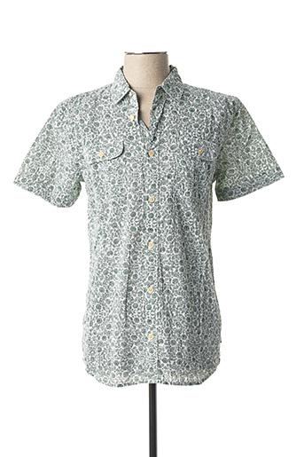 Chemise manches courtes vert PETROL INDUSTRIES pour homme