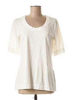 T-shirt manches courtes blanc NOOK pour femme