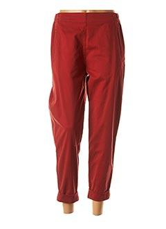 Pantalon 7/8 rouge ELEMENTE CLEMENTE pour femme