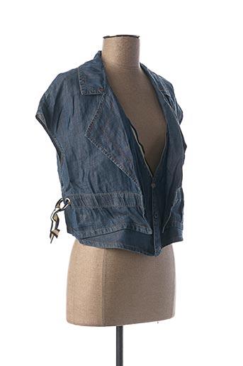 Veste casual bleu MIA SOANA pour femme