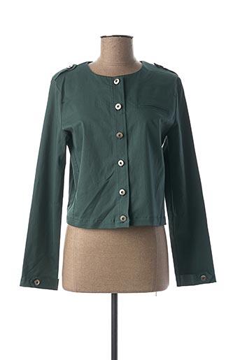 Veste casual vert MIA SOANA pour femme