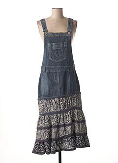 Robe mi-longue bleu AP pour femme