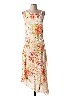 Robe mi-longue orange BLUS&BLUS pour femme