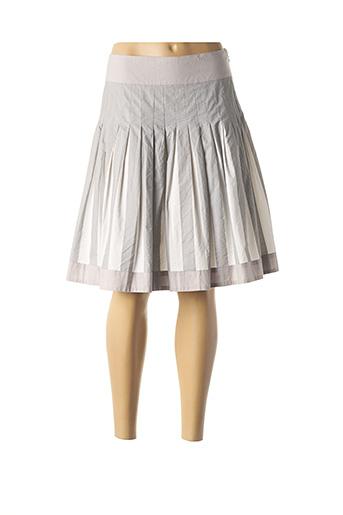 Jupe mi-longue gris AP pour femme