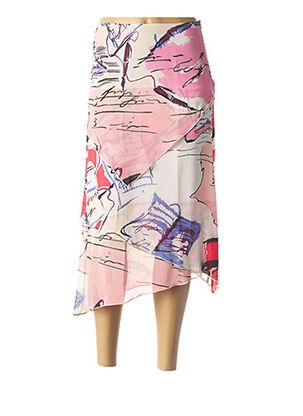 Jupe mi-longue rose BLUS&BLUS pour femme