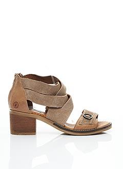 Sandales/Nu pieds marron CASTA pour femme