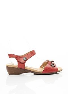 Sandales/Nu pieds rouge ARTIKA SOFT pour femme