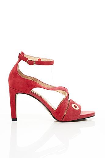 Sandales/Nu pieds rouge FUGITIVE pour femme