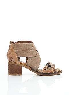 Sandales/Nu pieds beige CASTA pour femme