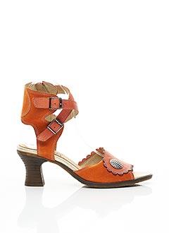 Sandales/Nu pieds orange CASTA pour femme