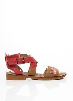Sandales/Nu pieds rouge CASTA pour femme