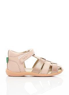 Sandales/Nu pieds rose KICKERS pour fille