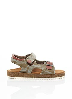 Sandales/Nu pieds vert KICKERS pour garçon
