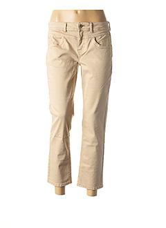 Pantalon 7/8 beige STREET ONE pour femme