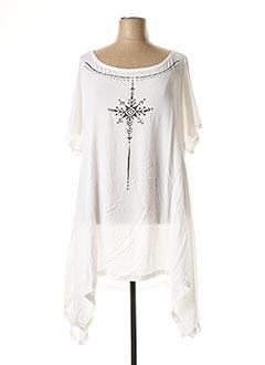 Tunique manches courtes blanc MAT. pour femme