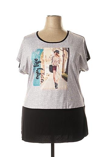 T-shirt manches courtes noir APRICO pour femme