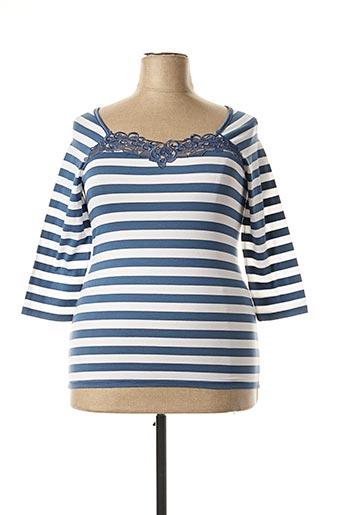 T-shirt manches longues bleu ARTIMAGLIA pour femme