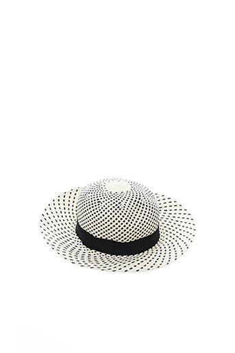 Chapeau beige MTM pour femme
