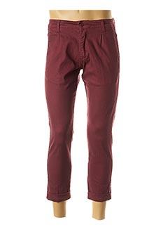 Pantalon casual rouge HIMSPIRE pour homme