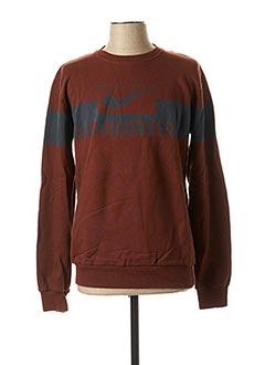 Sweat-shirt marron HIMSPIRE pour homme