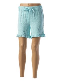 Pyjashort bleu PASTUNETTE pour femme