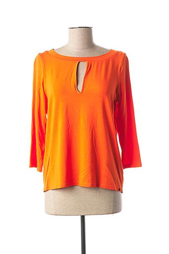 T-shirt manches longues orange MADO ET LES AUTRES pour femme