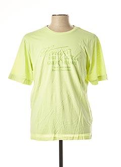 T-shirt manches courtes vert MONTE CARLO pour homme
