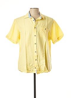 Chemise manches courtes jaune MONTE CARLO pour homme