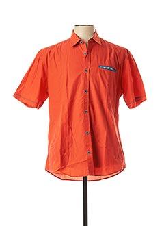 Chemise manches courtes orange MONTE CARLO pour homme