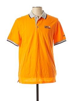 Polo manches courtes orange MONTE CARLO pour homme